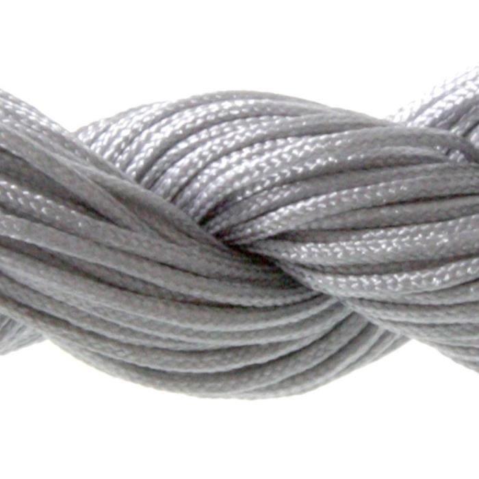 Fil Shamballa en Nylon 1 (mm), 30 (m) Gris