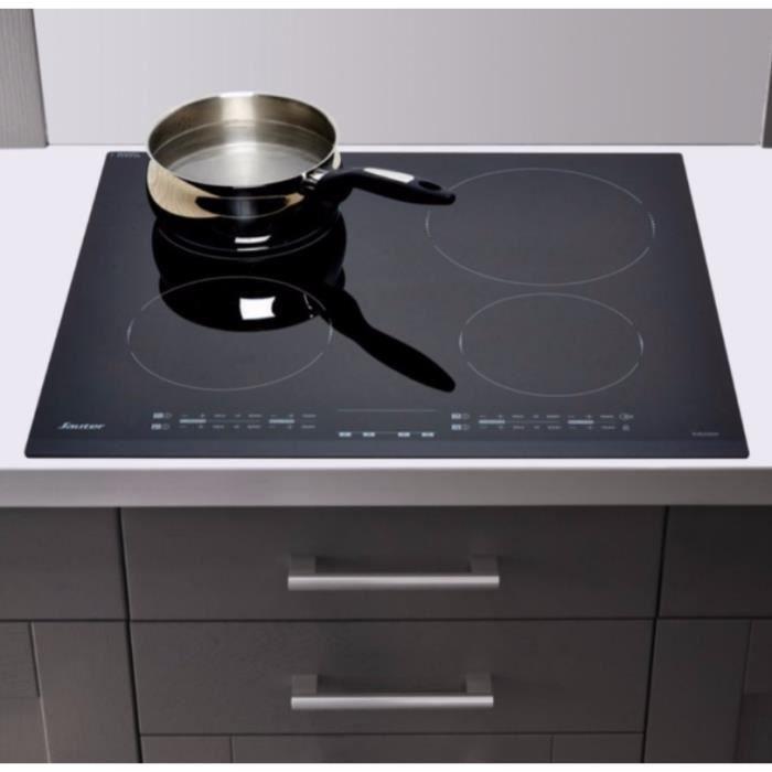 SAUTER - Table de cuisson à induction 60cm 4 foyers 7200w noir - SPI6466B