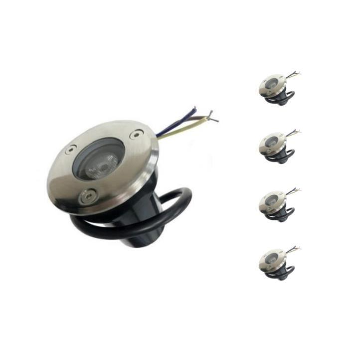 Spot Extérieur Encastrable LED IP65 220V Sol 3W 45° (Pack de 5) - Blanc Froid 6000K - 8000K