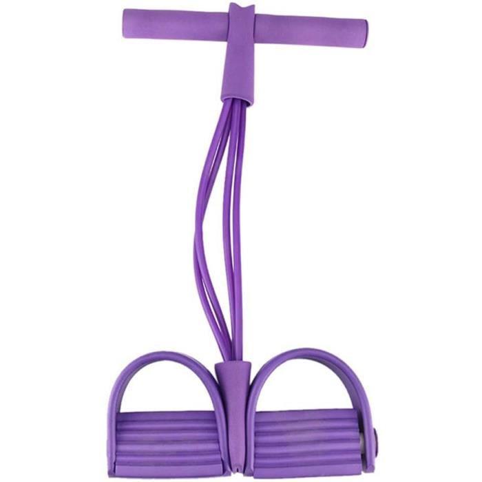 Corde Printemps Pied Tondeuse ÉQuipement Exercice Fitness Bodybuilding Sport PéDale Yoga RéSistance Bande Violet