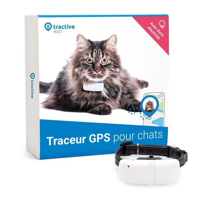 TRACTIVE Collier GPS pour chat - Traceur avec localisation à portée illimitée et suivi d'activité
