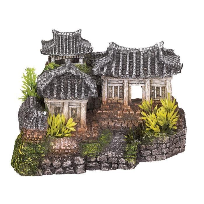 VADIGRAN Aqua Deco Temple asiatique - 19 x 15 x 1,2 cm