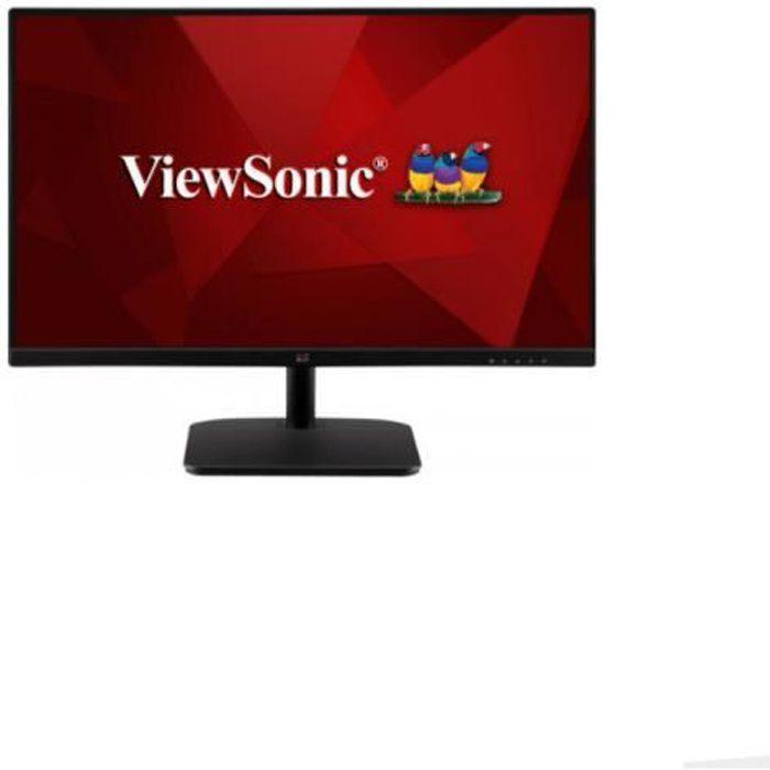 Moniteur 23.6- Viewsonic VA2432-MHD FHD1080p LED IPS SuperClear VGA HDMI DP Hauts parleurs Noir