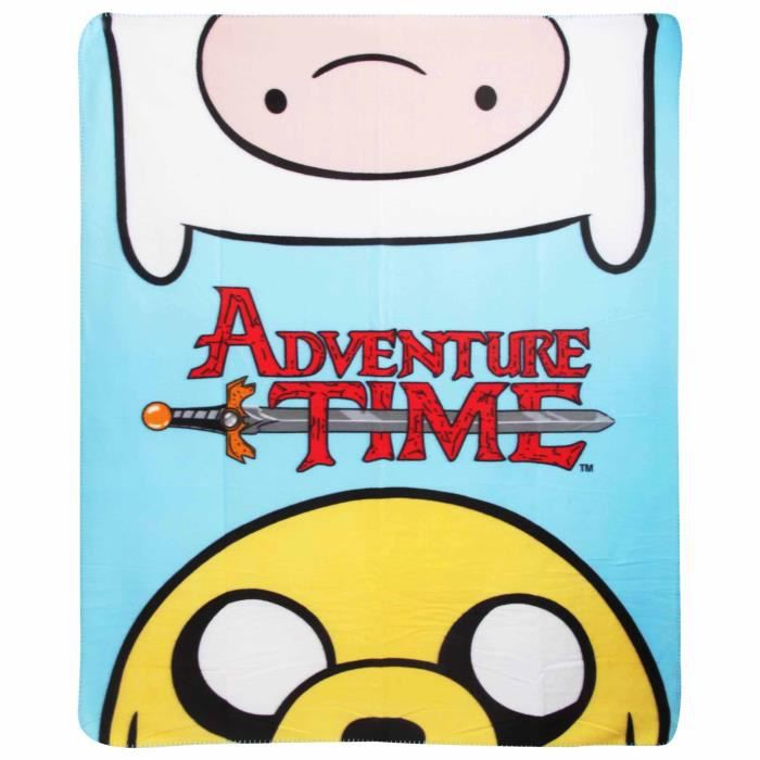 COUVERTURE - PLAID Adventure Time - Couverture polaire officielle