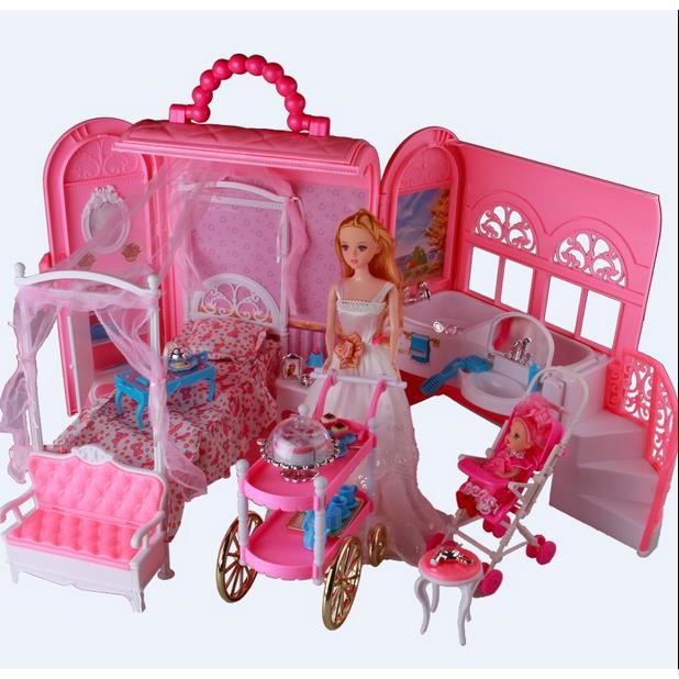barbie jouets jouet de fille cadeau de poup e barbie gift set enfants don achat vente poup e. Black Bedroom Furniture Sets. Home Design Ideas