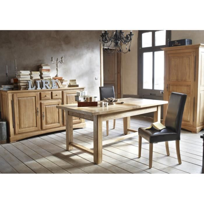 table de ferme ch ne massif 39 antique 39 180cm achat vente table a manger seule table de ferme. Black Bedroom Furniture Sets. Home Design Ideas