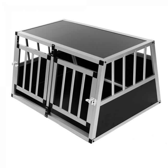 zoomundo cage de transport chien 2 portes premium achat. Black Bedroom Furniture Sets. Home Design Ideas