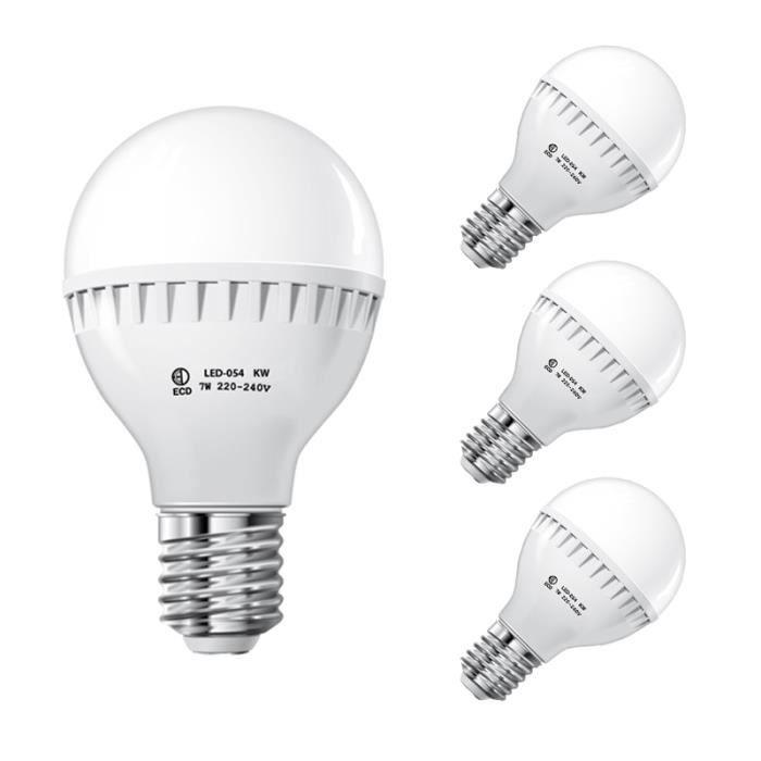 ECD Germany 7W E27 LED Lampe de remplacement pour lampes /à incandescence 40W 240 Lumens 36 x 5730 langle de faisceau de SMD 360 /° 220-240 blanc froid 6000K Ampoule en forme d/épi de ma/ïs