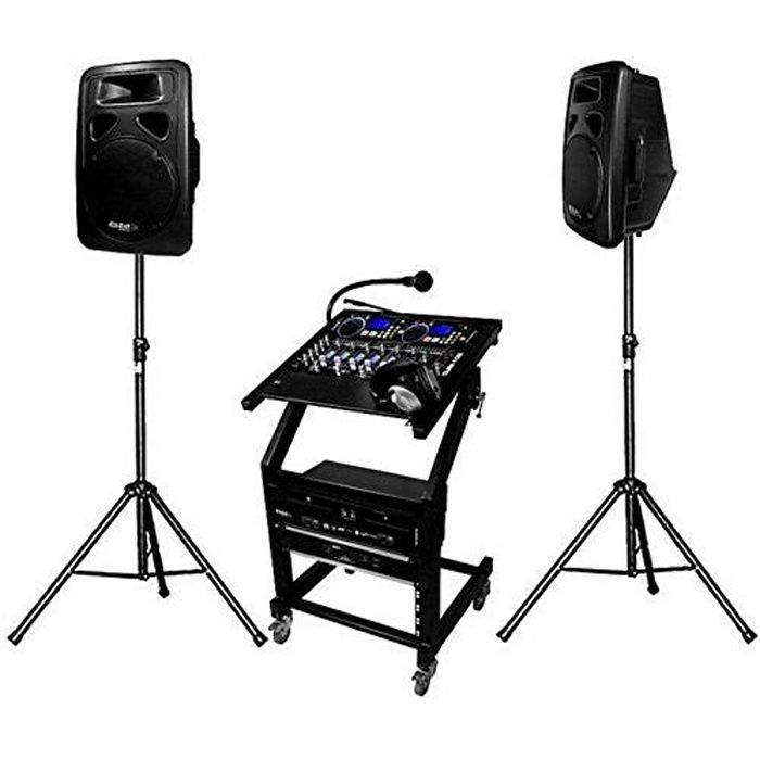 pack sono dj complet 1000 w dj leader 500 pack sono. Black Bedroom Furniture Sets. Home Design Ideas