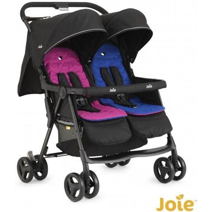 Photo de poussette-double-joie-aire-double-rose-bleu
