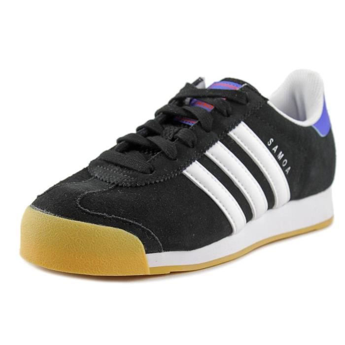 buy popular fab71 37e19 Adidas Samoa J Simili daim Baskets Noir Noir - Achat   Vente basket .
