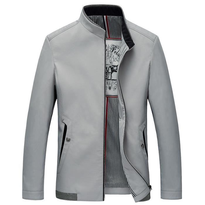 Marque Veste Homme Printemps et Automne Slim Fit Blouson Homme Marque Luxe