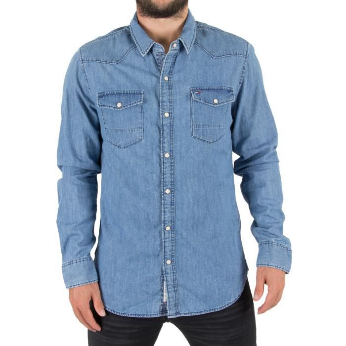 Chemise droite à rayures Rouge Tommy JeansTommy Jeans 2lO0tX