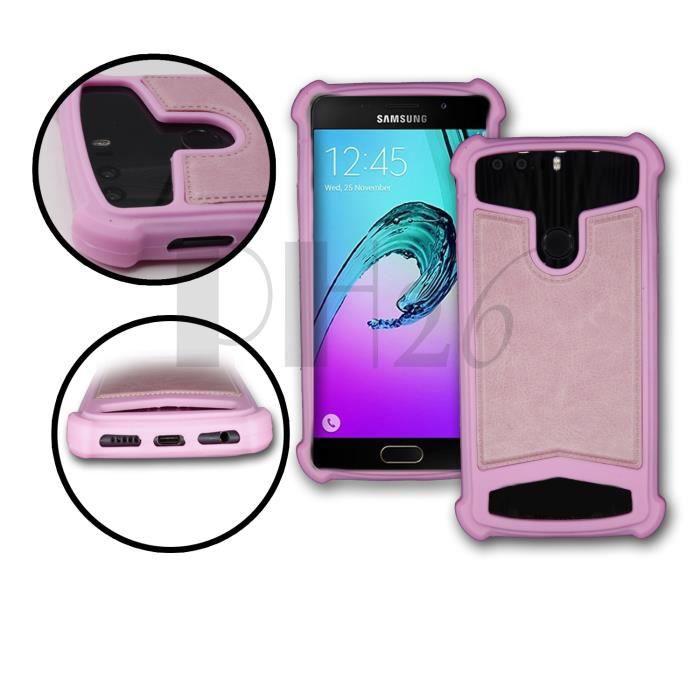 apple iphone 8 plus coque arriere facon cuir rose