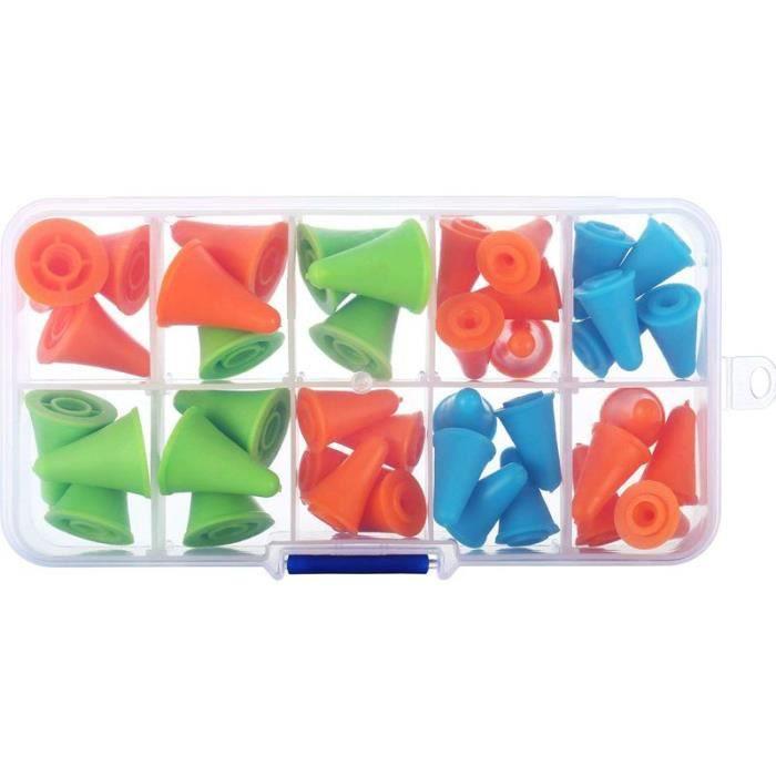 40 Pieces Bouchons De Point Daiguille Multicolores