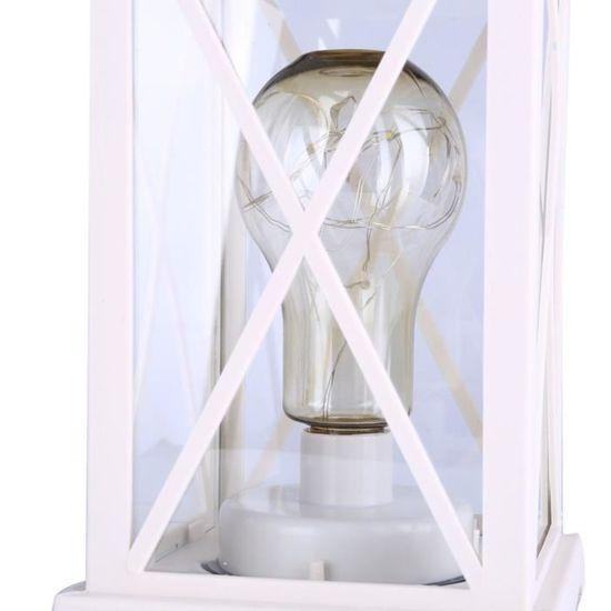 Auplew Lanterne de No/ël LED Lanterne P/ère No/ël P/ère No/ël Pendentif d/éco pour la d/écoration de Festival de No/ël int/érieur et ext/érieur