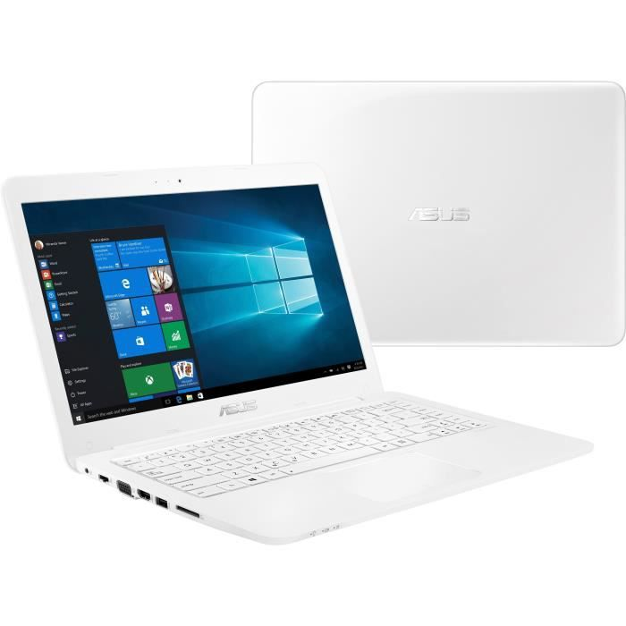 Ordinateur Portable - ASUS E402WA-GA074T - 14 pouces - AMD E2-6110 - RAM 4Go - Stockage 64Go - AMD Radeon R2 - Windows 10 Pro S