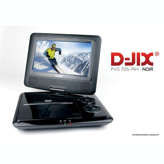 d jix pvs705 74h lecteur dvd portable lecteur dvd portable prix pas cher cdiscount. Black Bedroom Furniture Sets. Home Design Ideas