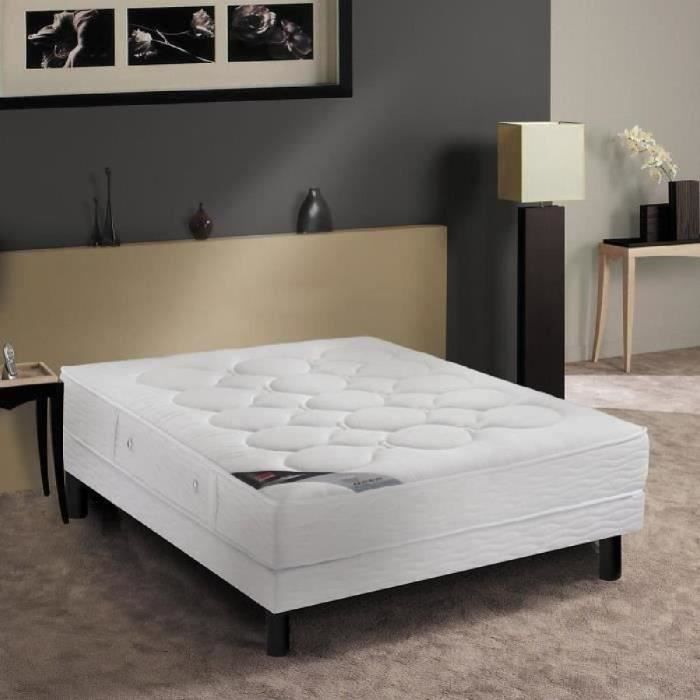 epeda ensemble matelas sommier magnesi 140x190 cm ressorts tr s ferme 600 ressorts. Black Bedroom Furniture Sets. Home Design Ideas