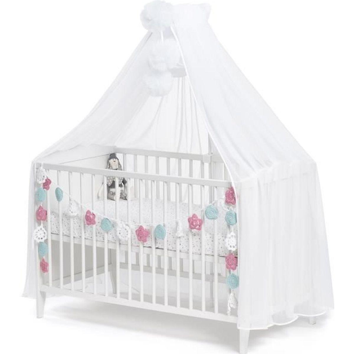 Fabriquer Ciel De Lit callyna ® - ciel de lit bébé moustiquaire voile blanc grande