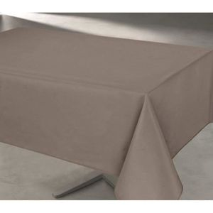 nappe rectangulaire taupe achat vente nappe. Black Bedroom Furniture Sets. Home Design Ideas