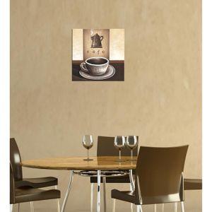 """TABLEAU - TOILE Bilderdepot24 """"café M1""""  tableau toile 30x30 cm…"""