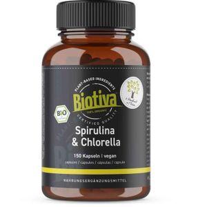 DÉFENSE IMMUNITAIRE  Spiruline Chlorella Algues Bio Capsules - 1800mg D