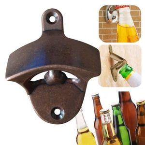 TIRE-BOUCHON Bronze Wall Mount Ouvert Vin Bière Soda verre Cap