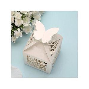 BOÎTE À DRAGÉES 50pcs Boîtes à Dragée De Mariage(Blanc)