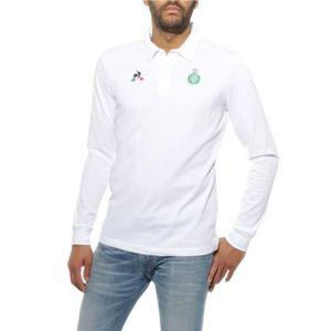 POLO ASSE Homme Polo Football Blanc Le Coq Sportif