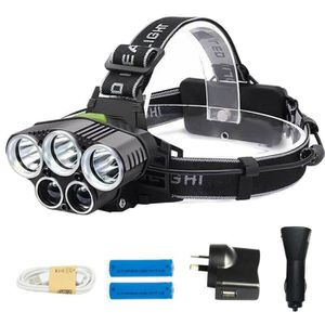 LAMPE FRONTALE MULTISPORT 5 LED Lampe frontale Puissante rechargeable USB 3