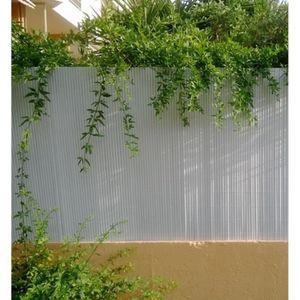 CLÔTURE - GRILLAGE Canisse en PVC double face en rouleau coloris blan