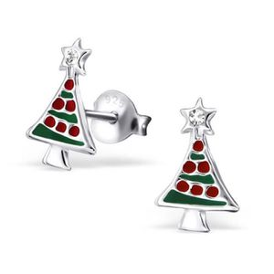 Mini Boucles Rouge Noël de Noël Boucles Boucle Arbre de Noël 5 cm