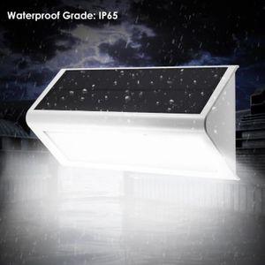 LAMPE DE JARDIN  Lampe solaire extérieur 46 LED 800 Lumen Lumière B