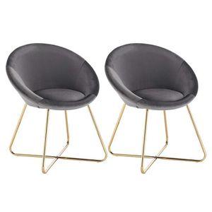 CHAISE WOLTU 2 x Chaises de salle à manger siège bien rem