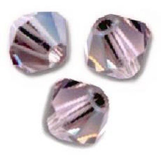 VIOLET SATIN 20 Perles Toupies 4mm Cristal Swarovski