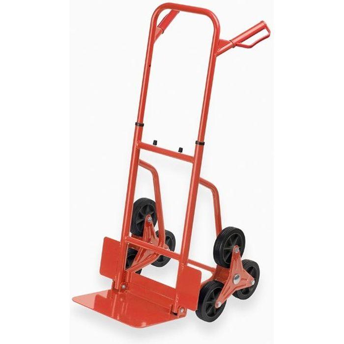 MEISTER Diable pliant spécial escalier- Charge maximale 120 kg