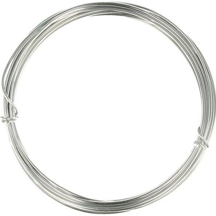 5 Mètres Fil Aluminium Argenté - Fil pour Tricotin