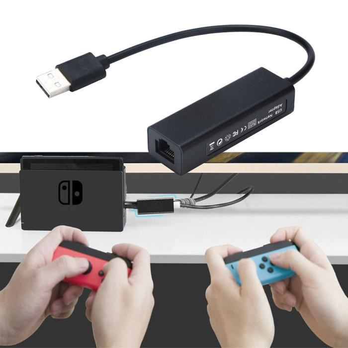 1000Mps USB2.0 à RJ45 Lan Ethernet Adapter Hub Network Card pour Nintendo Switch @whicloudX2680