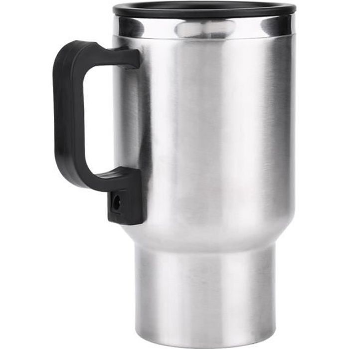 12V 450 ml Tasse Chauffante Électrique en Acier Inoxydable de Voiture Bouilloire de Café Thé -BOH