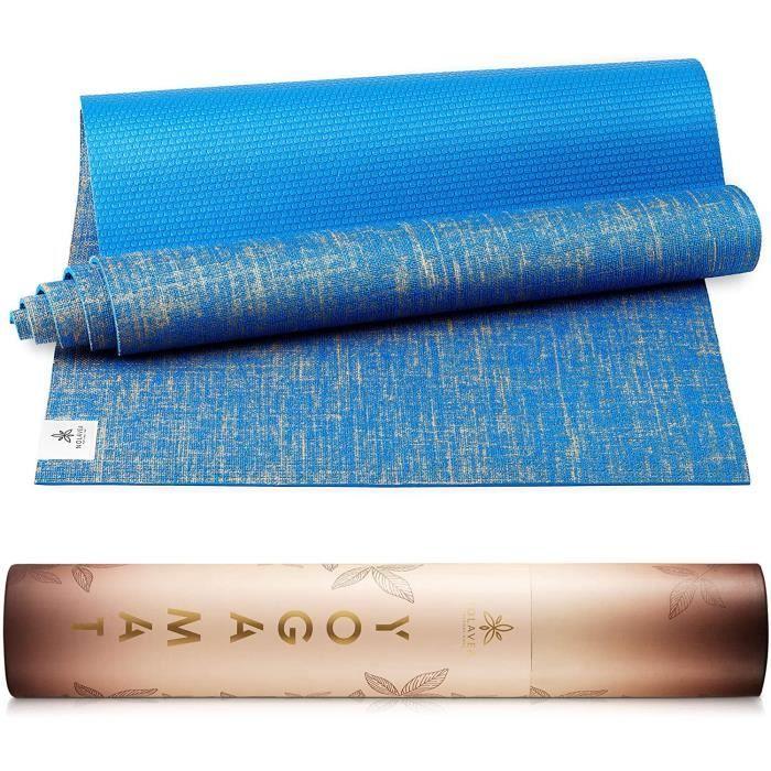Nolavea - Tapis de Yoga Antiderapant - Tapis De Sol Gym Epais et Transportable avec Sangle Yoga Mat pour Sport Maison, Fitness, Gymn