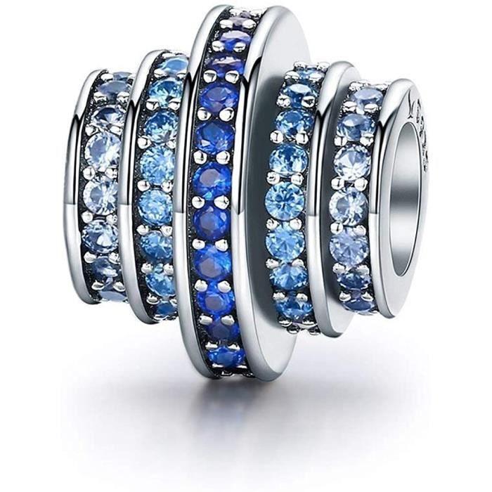 DIAN Jewellery Bleu Melodie Breloque Perle Avec Zircone - Bracelet Breloque Pour Pandora Bracelets Charmes, Heureux Anniversaire...