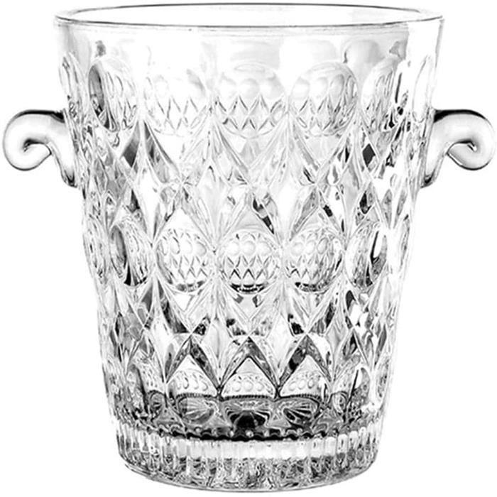 SEAU A GLACONS Seau Agrave Glace Seau Agrave Glace en Cristal Portable Seau Agrave Champagne en Cristal Refroidisseur Agrave Vi410