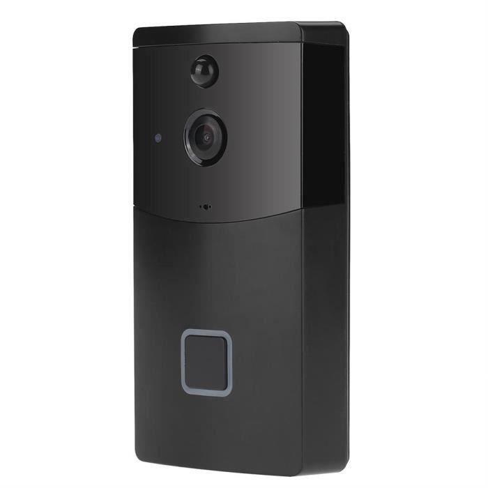 Sonnerie sans fil Wi-Fi Sonnette Caméra Vidéo Anneau Interphone Vision Nocturne Sécurité Construire à Domicile-GUA