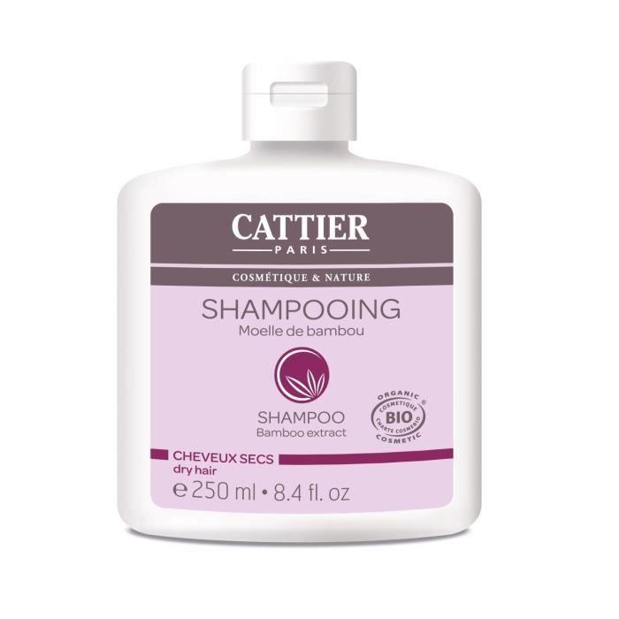 CATTIER Shampooing Moelle de Bambou Bio Cheveux Secs 250 ml