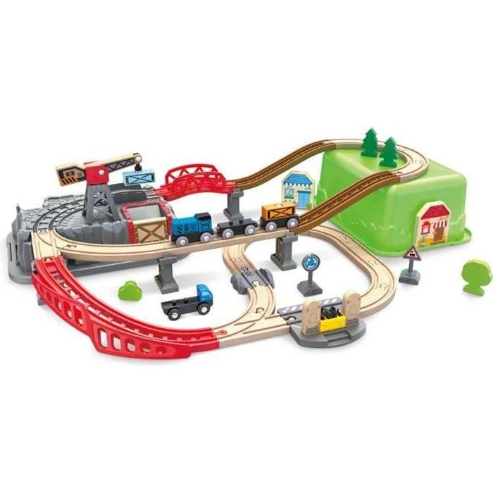 Circuit de train Hape Railway bucket builder et sa boite de rangement 3 - 6 ans, 6 ans et plus