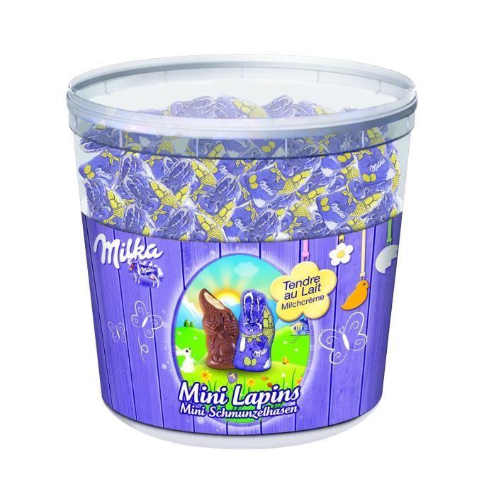 MILKA Chocolat Tubo Mini Lapins Tendre au lait - 1,505 kg