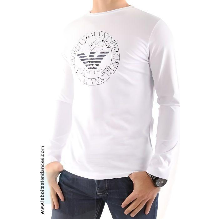 T-Shirt Armani Jeans Homme Manche Longue