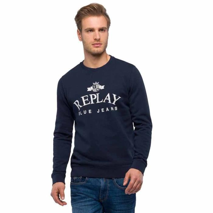 Vêtements Homme Sweatshirts Replay Cotton Fleece
