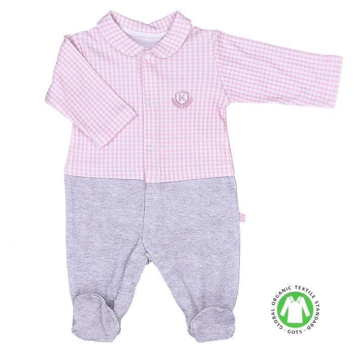 Pyjama bébé en coton bio, VICHY